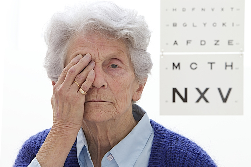 The link between cognition problems and poor eyesight was found in older adults over 60.