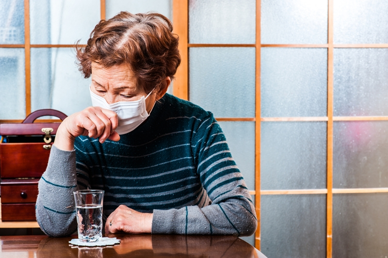 In some cases of seniors with the flu, the infection can become serious.